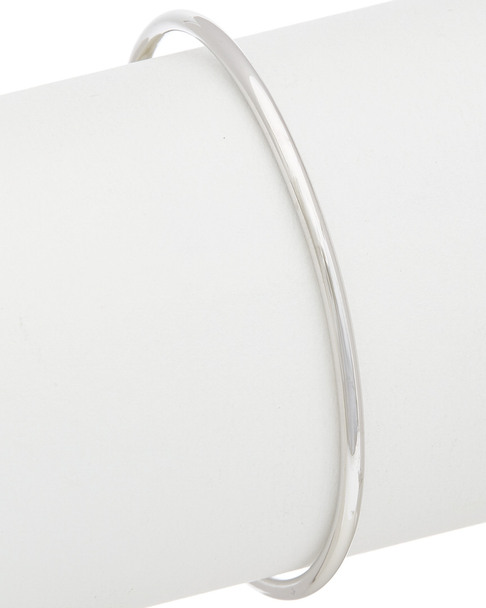 Judith Ripka Classic Silver 2.40 ct. tw. Amethyst Bangle~60309605130000