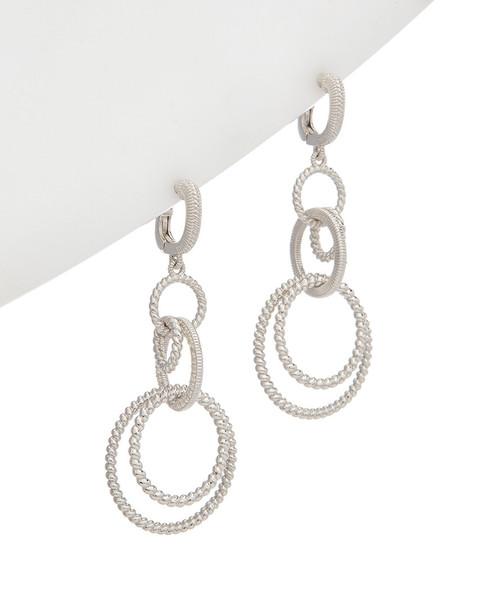 Judith Ripka Eternity Silver 0.58 ct. tw. White Topaz Earrings~60309605170000