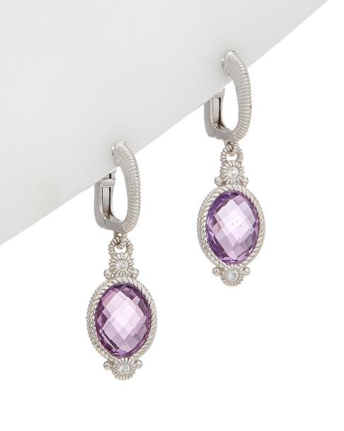 Judith Ripka La Petite Silver 4.29 ct. tw. Gemstone Earrings~60309605240000