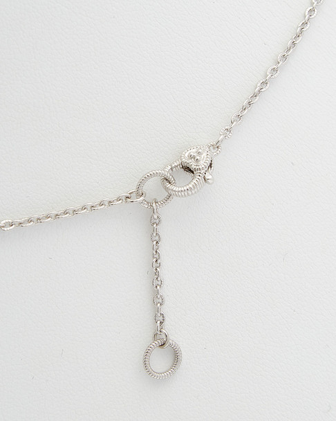 Judith Ripka La Petite Silver 31.74 ct. tw. White Topaz & 9-10 mm Pearl Necklace~60309605270000