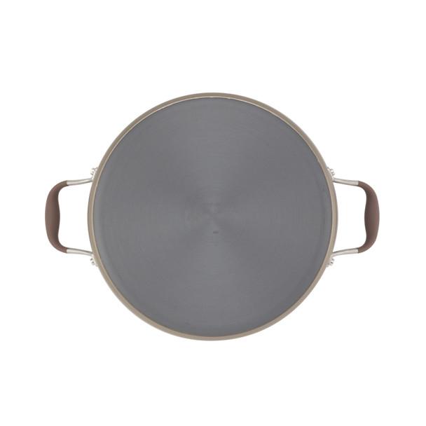 Anolon Advanced Bronze Hard-Anodized Nonstick 7.5-Quart Covered Wide Stock Pot~82795