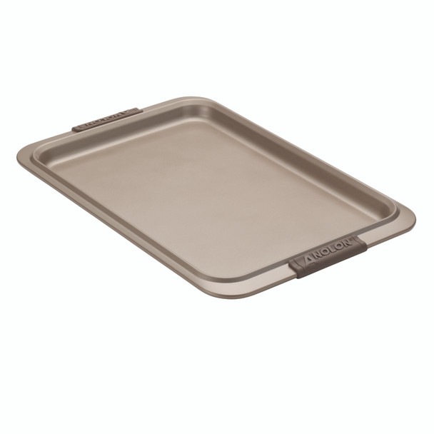 Anolon Advanced Bronze Nonstick 11-inch x 17-inch Cookie Pan with Silicone Grips~57034