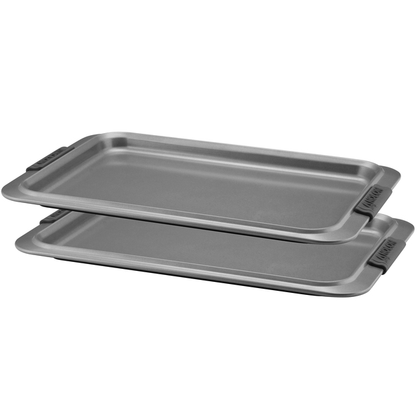 Anolon Advanced Nonstick 10-inch x 15-inch Cookie Sheet with Silicone Grips - Gray~54704