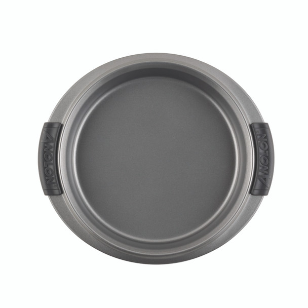 Anolon Advanced Nonstick 9-inch Round Cake Pan with Silicone Grips - Gray~54707