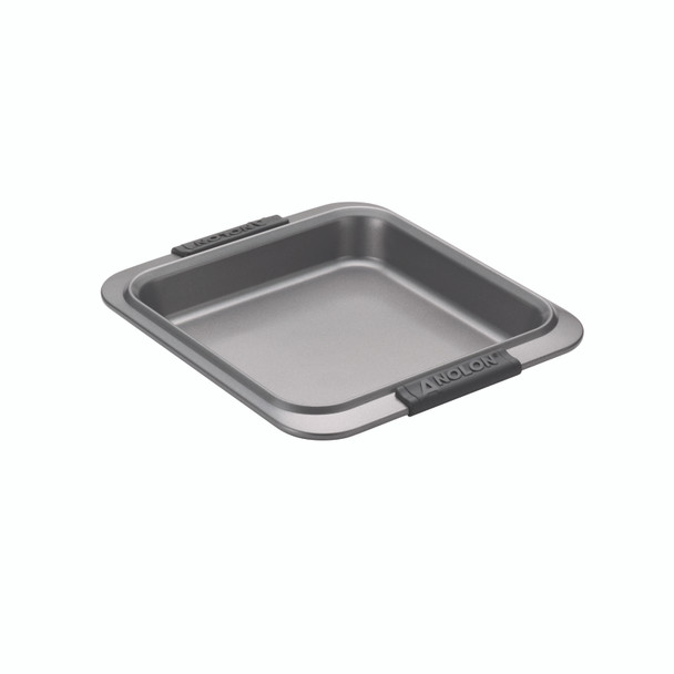 Anolon Advanced Nonstick 9-inch Square Cake Pan with Silicone Grips - Gray~54708
