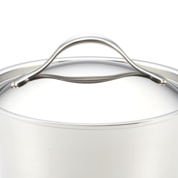 Anolon Nouvelle Copper Stainless Steel 8.5-inch and 10-inch Lids~77446