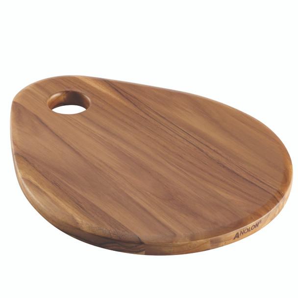 Anolon Teakwood Pantryware 12.5-inch x 10-inch Teardrop Cutting Board~46843