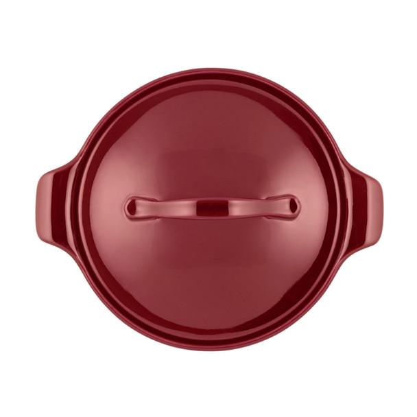 Anolon Vesta Ceramics 2.5-Quart Round Casserole - Paprika Red~51035