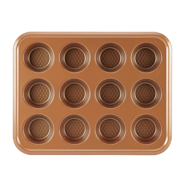 Ayesha Bakeware 12-Cup Muffin Pan - Copper~47002