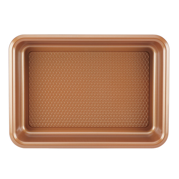 Ayesha Bakeware 9-inch x 13-inch Covered Cake Pan - Copper~47004