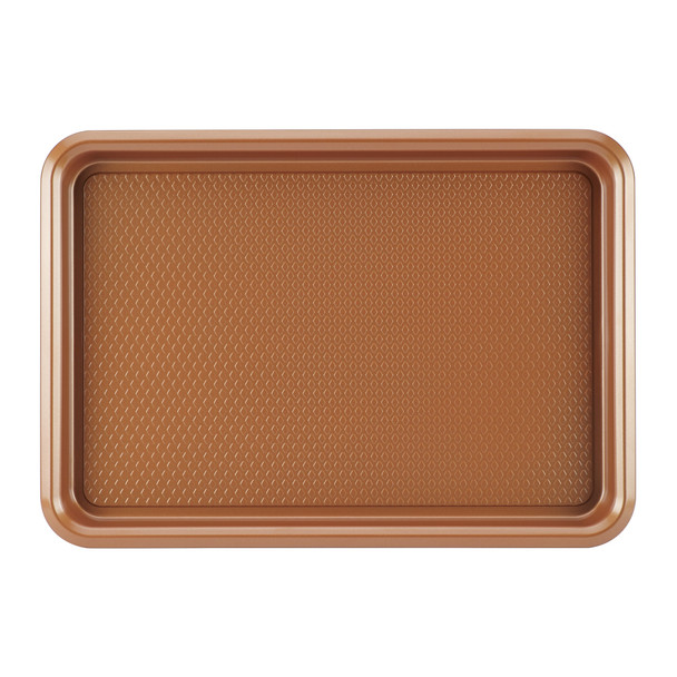 Ayesha Bakeware 10-inch x 15-inch Nonstick Cookie Pan - Copper~46998