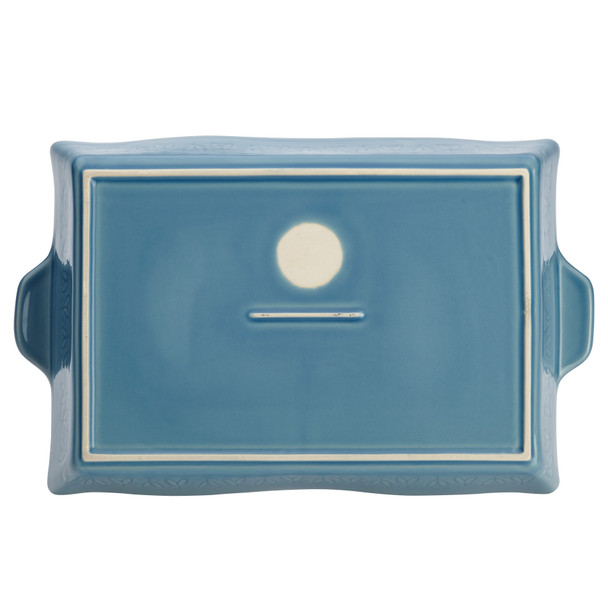 "Ayesha Collection Ceramic 9"" x 13"" Rectangular Baker - Twilight Teal~46944"