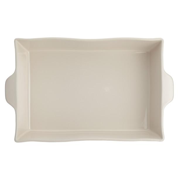"Ayesha Collection Ceramic 9"" x 13"" Rectangular Baker - French Vanilla~46942"