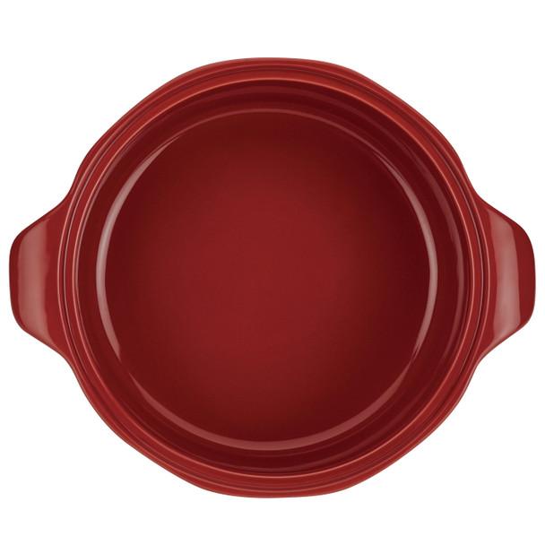 Ayesha Collection Ceramic 2.5-Quart Round Casserole - Sienna Red~46946