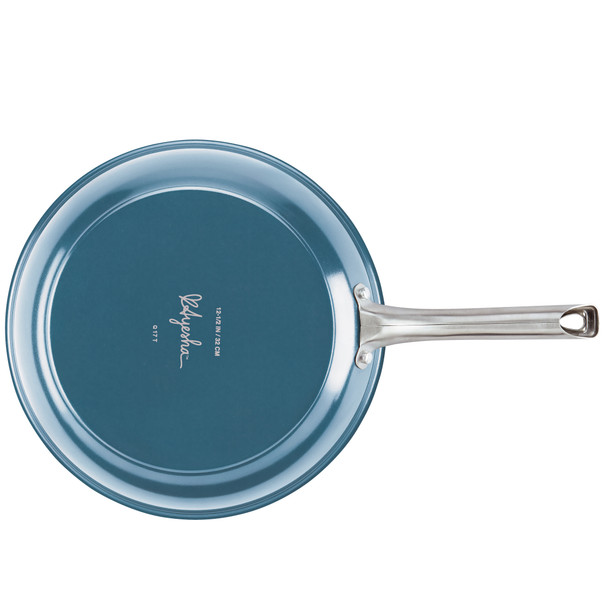 Ayesha Curry Home Collection Porcelain Enamel Nonstick 12.5-inch Skillet - Twilight Teal~10753