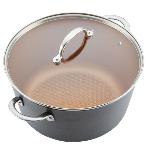Ayesha Home Collection Hard Anodized Aluminum 10-Quart Stock Pot~80263