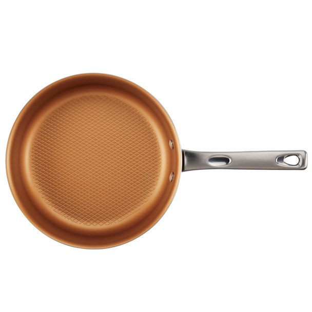 Ayesha Home Collection Porcelain Enamel Nonstick 3-Quart Covered Sauté Pan - Brown Sugar~10781