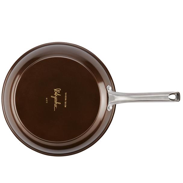 Ayesha Home Collection Porcelain Enamel Nonstick 12.5-inch Skillet - Brown Sugar~10761