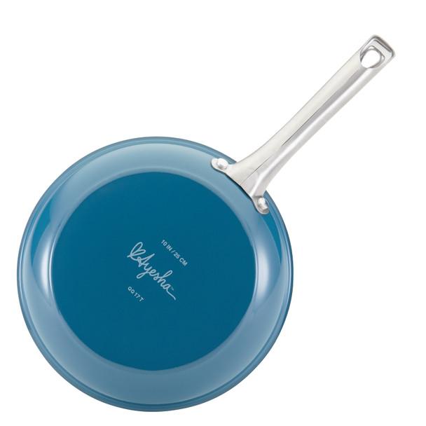 Ayesha Home Collection Porcelain Enamel Nonstick 8.5-inch Skillet - Twilight Teal~17650
