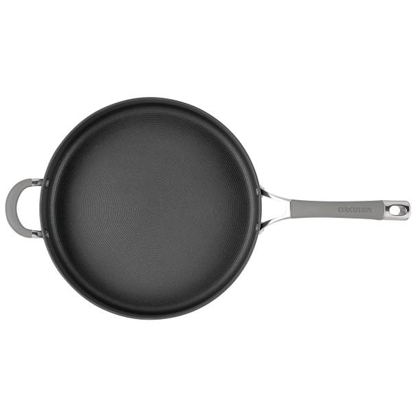 Circulon Elementum Hard-Anodized Nonstick 5-Quart Sauté Pan with Helper Handle - Oyster Gray~84576