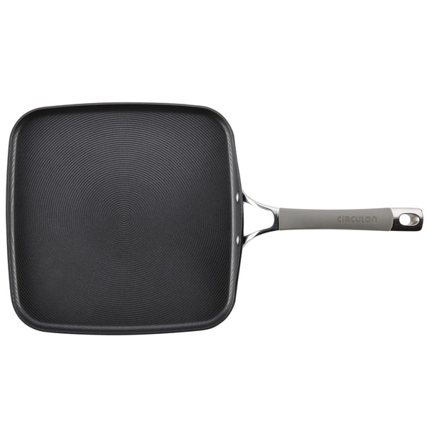 Circulon Elementum Hard-Anodized Nonstick 11-inch Square Griddle - Oyster Gray~84566