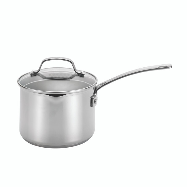 Circulon Genesis Stainless Steel Nonstick 3-Quart Covered Straining Sauce Pan~77882