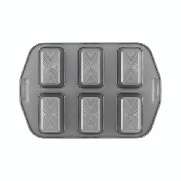 Circulon Nonstick 6-Cup Mini Loaf Pan - Gray~57632