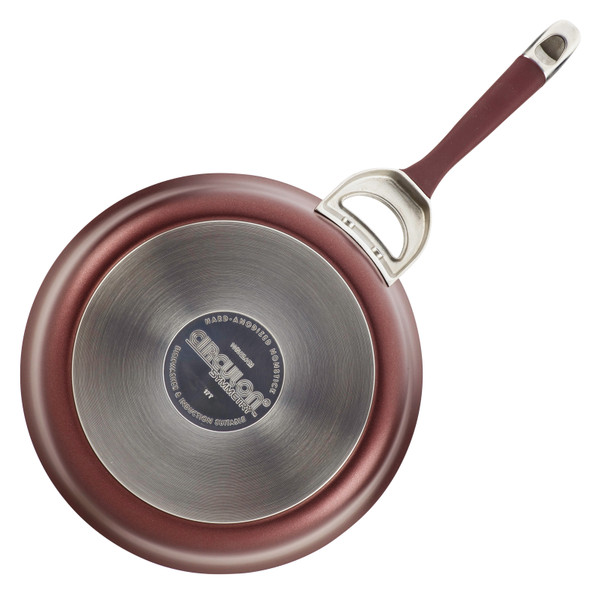 Circulon Symmetry Hard-Anodized Nonstick 10-inch and 12-inch French Skillets - Merlot~87530