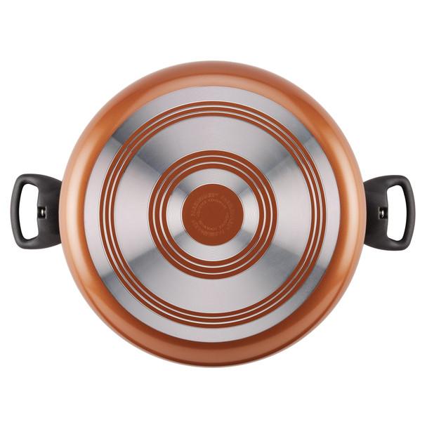 Farberware Aluminum Nonstick 10.5-Quart Covered Stock Pot - Copper~10509