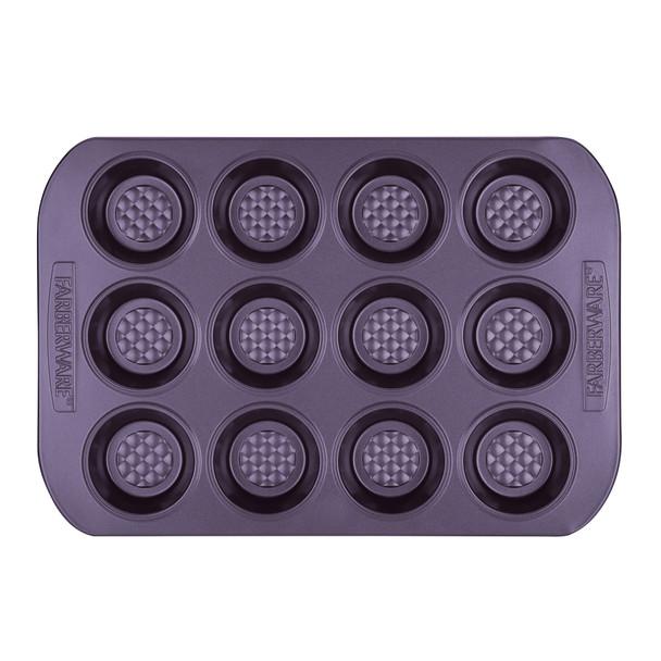 Farberware Colorvive Nonstick 12-Cup Muffin Pan - Purple~47141
