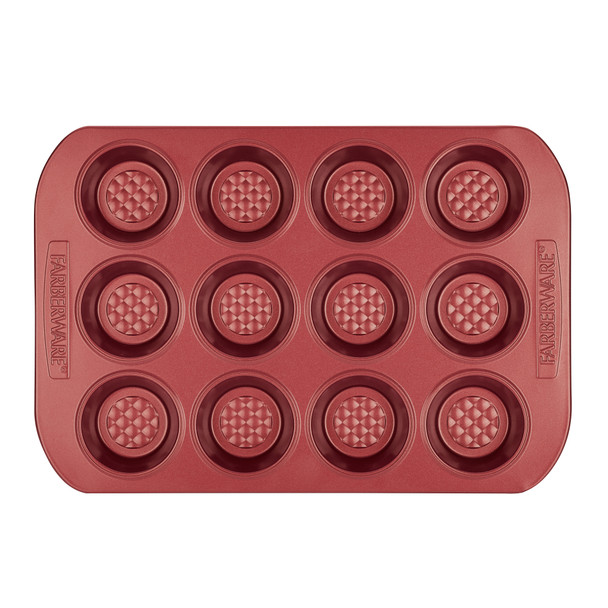 Farberware Colorvive Nonstick 12-Cup Muffin Pan - Red~47140