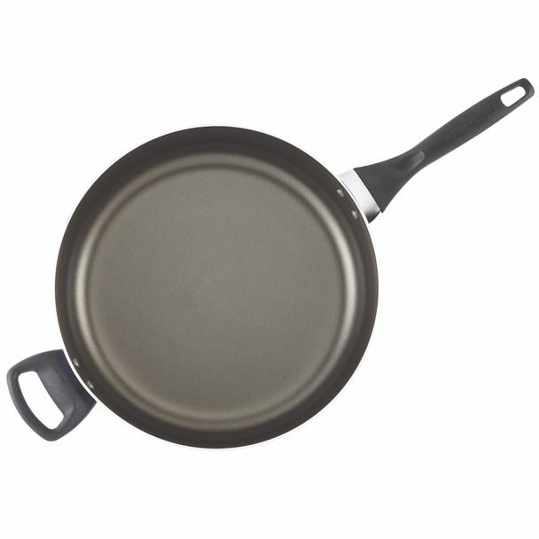 Farberware Dishwasher Safe Nonstick Aluminum 6-Quart Covered Jumbo Cooker with Helper Handle - Black~21981