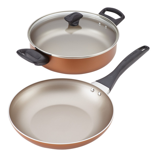 Farberware Dishwasher Safe Nonstick 3-Piece Cookware Set - Copper~20111