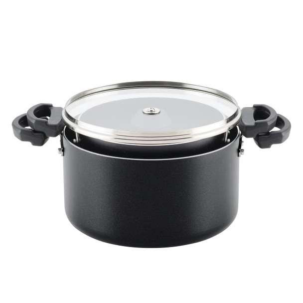 Farberware Neat Nest Space Saving Aluminum Nonstick 4-Piece Sauce Pot Set - Black~21999