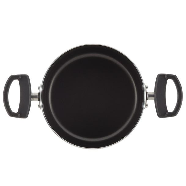 Farberware Neat Nest Space Saving Aluminum Nonstick 6-Piece Sauce Pot Set - Black~20482