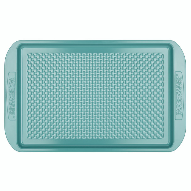 Farberware purECOok Hybrid Ceramic Nonstick 11-inch x 17-inch Baking Sheet & Cookie Pan - Aqua~46328