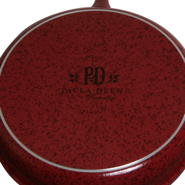 Paula Deen Signature Collection Porcelain Nonstick Twin Pack 9-inch and 11-inch Skillets - Red Speckle~19246
