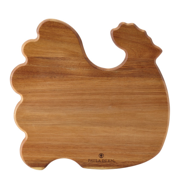 Paula Deen Signature Pantryware Wooden 12-inch x 12-inch Rooster Cutting Board~55503