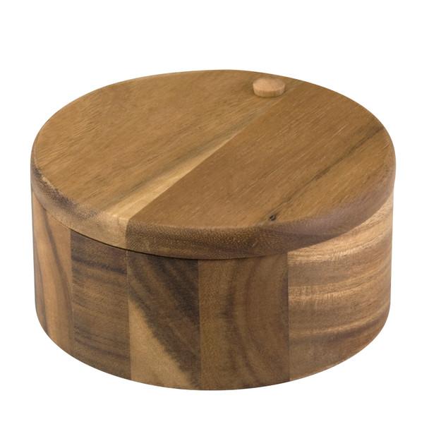 Paula Deen Signature Pantryware Wooden 2-Compartment Round Salt Box~55486
