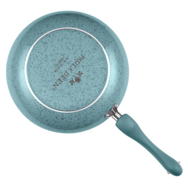 Paula Deen Signature Porcelain Nonstick 12-inch Deep Skillet - Aqua Speckle~12511