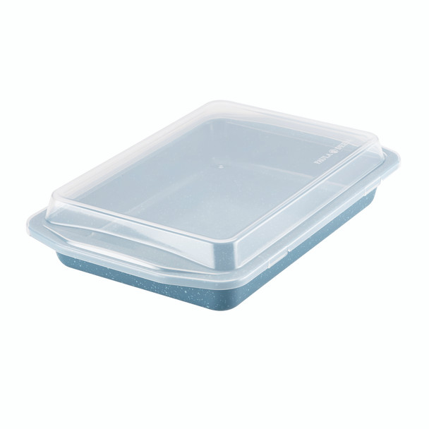Paula Deen Speckle Nonstick 9-inch x 13-inch Covered Rectangle Cake Pan - Gulf Blue Speckle~46264