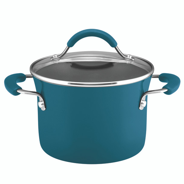 Rachael Ray Classic Brights Nonstick 3-Quart Sauce Pot and Steamer Insert Set - Marine Blue Gradient~17647
