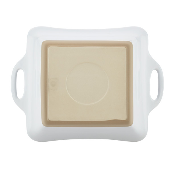Rachael Ray Collection 2.5-Quart Stoneware Square Casserole - White~47027