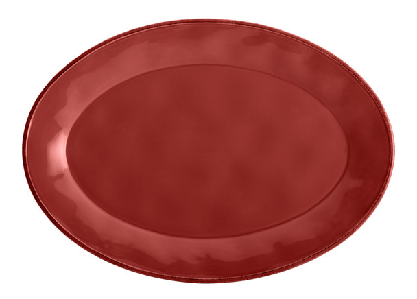 Rachael Ray Cucina Dinnerware 10-inch x 14-inch Stoneware Oval Platter - Cranberry Red~57401