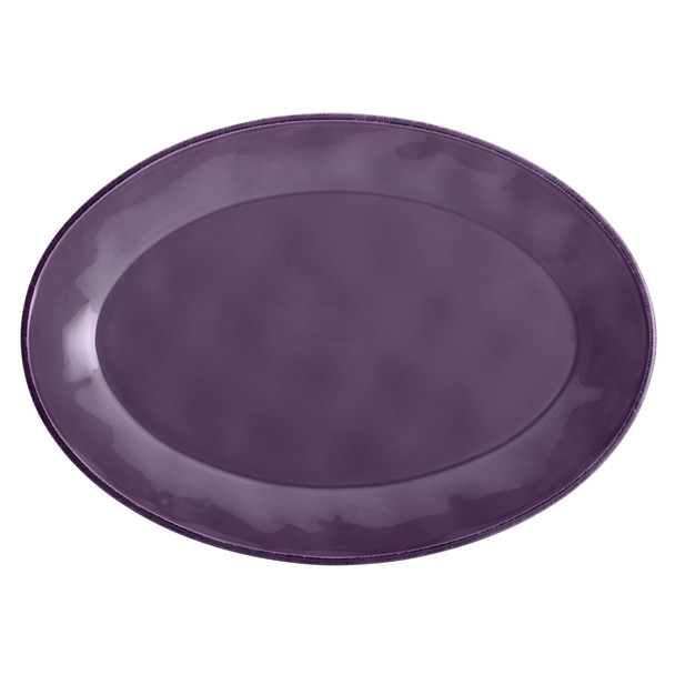 Rachael Ray Cucina Dinnerware 10-inch x 14-inch Stoneware Oval Platter - Lavender Purple~59818