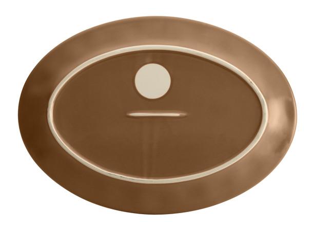 Rachael Ray Cucina Dinnerware 10-inch x 14-inch Stoneware Oval Platter - Mushroom Brown~57404