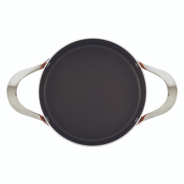 Rachael Ray Cucina Hard Porcelain Enamel Nonstick 4.5-Quart Covered Round Casserole - Agave Blue~16295