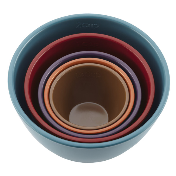 Rachael Ray Cucina 5-Piece Melamine Nesting Measuring Cups Set - Multicolored~46312