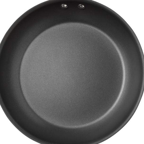 Rachael Ray Hard-Anodized Nonstick 12.5-inch Skillet - Gray with Orange Handle~87388