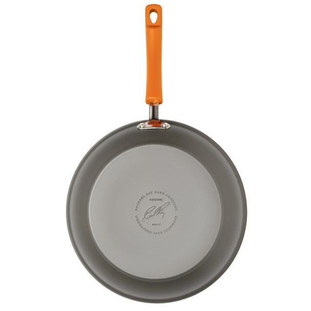 Rachael Ray Hard-Anodized Nonstick 8.5-inch Skillet - Gray with Orange Handle~87386